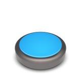 Vector intorno al bottone di web con la struttura del metallo e gli elementi blu Fotografia Stock