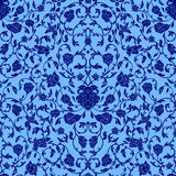 Vector intricate seamless pattern in Eastern style in bluecolor. Ornate elements for design.Inricate ornamental decoration , can b Stock Photos