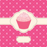 Vector invitation with capcake Stock Images