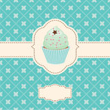 Vector invitation with capcake Royalty Free Stock Photography
