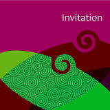 Vector invitation card Stock Photos
