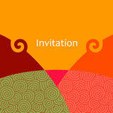 Vector invitation card Royalty Free Stock Photography