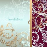 Vector invitation card or background in luxury style Stock Photography