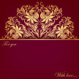 Vector invitation card with filigree elements. Vector invitation card with filigree floral elements on dark background for design Stock Image