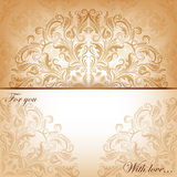 Vector invitation card with filigree elements royalty free illustration