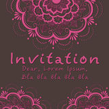 Vector invitation card with floral element Stock Image