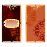 Vector invitation card with frame. And filigree ornament, place for text Stock Photo