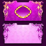 Vector invitation card with frame. And filigree ornament, place for text Stock Photography