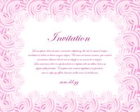 Vector invitation card with frame of sweet cream Stock Images