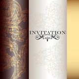 Vector invitation card Royalty Free Stock Image