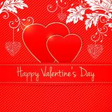 Vector invitation card. Happy Valentine`s Day. Heart silhouette. Elegant template for your tender design Stock Photos