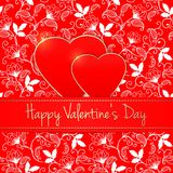 Vector invitation card. Happy Valentine`s Day. Heart silhouette. Elegant template for your tender design Stock Photo