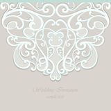 Vector invitation card ornamental lace with damask elements Royalty Free Stock Photo