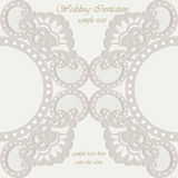 Vector invitation card ornamental lace with damask elements Royalty Free Stock Photos