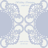 Vector invitation card ornamental lace with damask elements Stock Photos