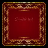 Vector invitation card with royal frame Royalty Free Stock Photo