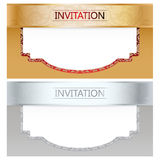 Vector Invitation Card Set Stock Photography