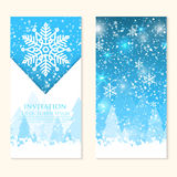 Vector invitation card with snowflakes. Happy New Year and Merry Christmas invitation card. Royalty Free Stock Images