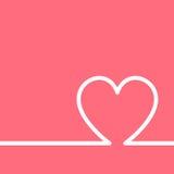 Vector invitation card for Valentine Day. Flat design Stock Photos