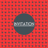 Vector invitation card with weave background. Stock Photo