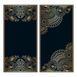 Vector invitation cards. Vector invitation cards with vintage pattern and space for text Royalty Free Stock Photography