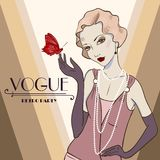 Vector invitation on Fashionable a retro Party Royalty Free Stock Images