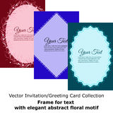 Vector Invitation Greeting Card Collection Royalty Free Stock Photography