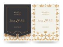 Vector invitation or greeting card templates. stock illustration