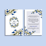 Vector invitation with handmade floral elements. Modern Wedding collection. Thank you card, save the date cards, menu, flyer, bann Stock Images