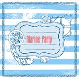 Vector Invitation to a Sea Party Royalty Free Stock Photography