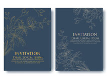 Vector invitation or wedding, cards with floral elements. Elegant floral abstract ornaments. Royalty Free Stock Images