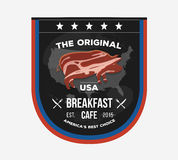 Vector invitational sign board for cafe in Presidents Day style. Stock Image