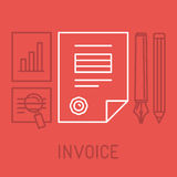 Vector invoice concept in outline style Royalty Free Stock Images