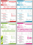 Vector Invoice templates set Royalty Free Stock Photography