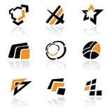 Vector inzameling van abstracte symbolen Royalty-vrije Stock Afbeelding