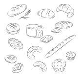 Vector Inzameling van bakkerij Stock Afbeelding