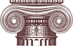Vector ionic column Stock Images
