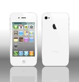 Vector Iphone 4 White Royalty Free Stock Photo
