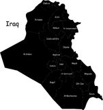 Vector Iraq map Royalty Free Stock Images