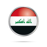 Vector Iraqian flag button. Iraq flag in glass button style. Stock Photography