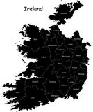 Vector Ireland map stock photos