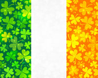 Vector Irish flag background Stock Photography