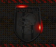 Vector iron football emblem Stock Photo