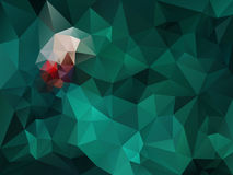Vector irregular polygon background with a triangle pattern in dark green and red spectrum color Royalty Free Stock Photo