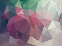 Vector irregular polygon background with a triangle pattern in dark purple, pink, green, gray and beige color Royalty Free Stock Images