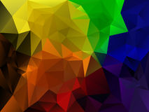 Vector irregular polygon background with a triangle pattern in full spectrum rainbow color Royalty Free Stock Images
