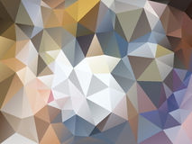 Vector irregular polygon background with a triangle pattern in light brown, beige, gray and blue color Stock Photos