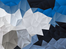 Vector irregular polygon background with a triangle pattern in light and dark blue and gray color Royalty Free Stock Photography