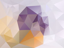 Vector irregular polygon background with a triangle pattern in light purple, orange and beige color Royalty Free Stock Image