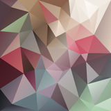Vector irregular polygon background with a triangle pattern in pastel multi color Stock Images